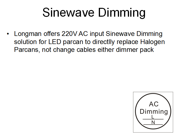 sine wave dimming technology