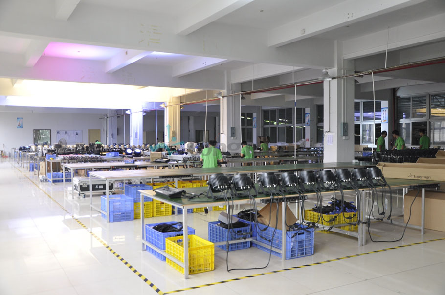 Aging test line for led stage lighting