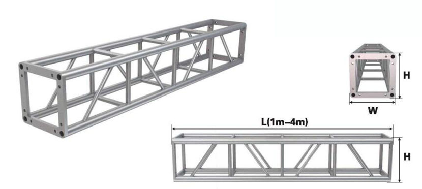 300*300 screw aluminum square truss