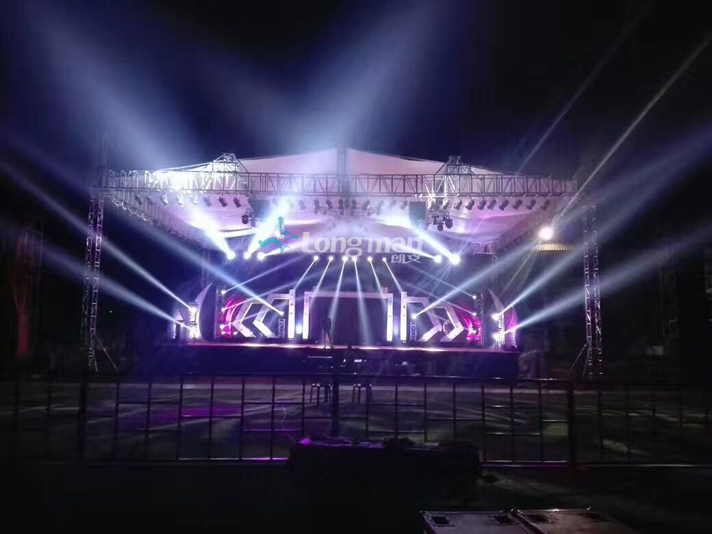 Aluminum stage truss and stage light for event