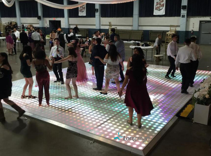 led dance floor for party
