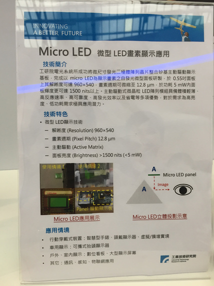 Longman:ITRI Showcases Micro-LED Technology at Computex 2016