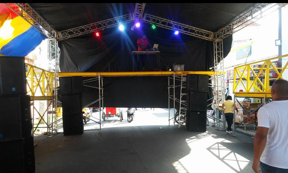 aluminum stage truss for Festival in Dominica