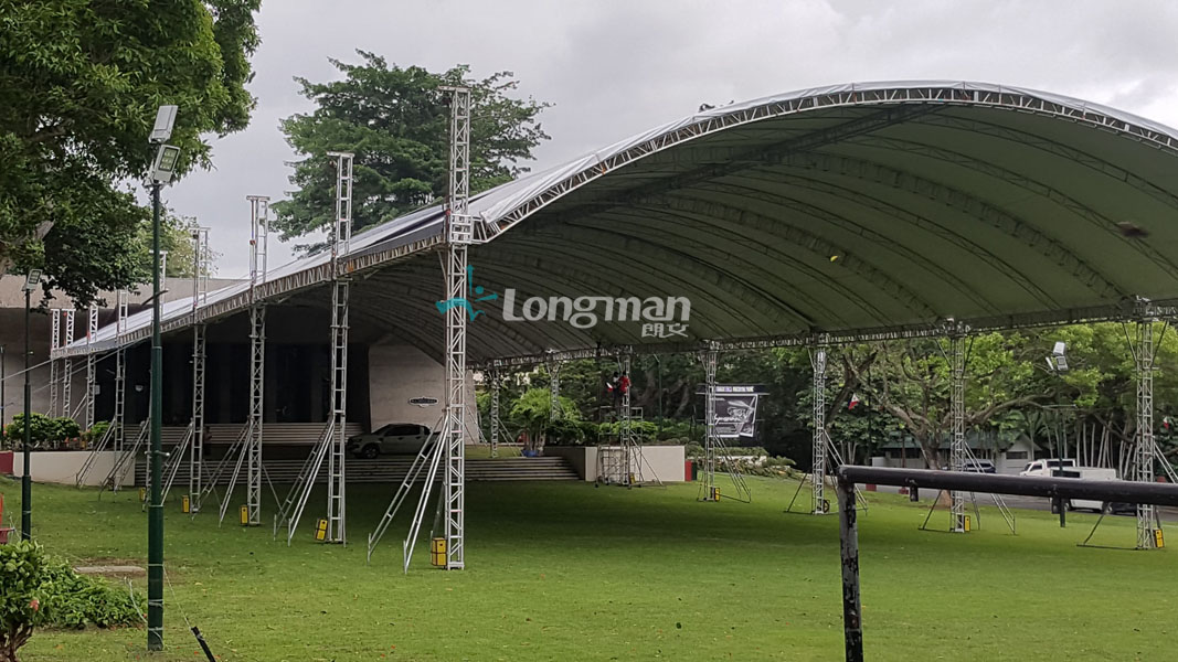 Philippine customer use aluminum stage truss for outdoor event